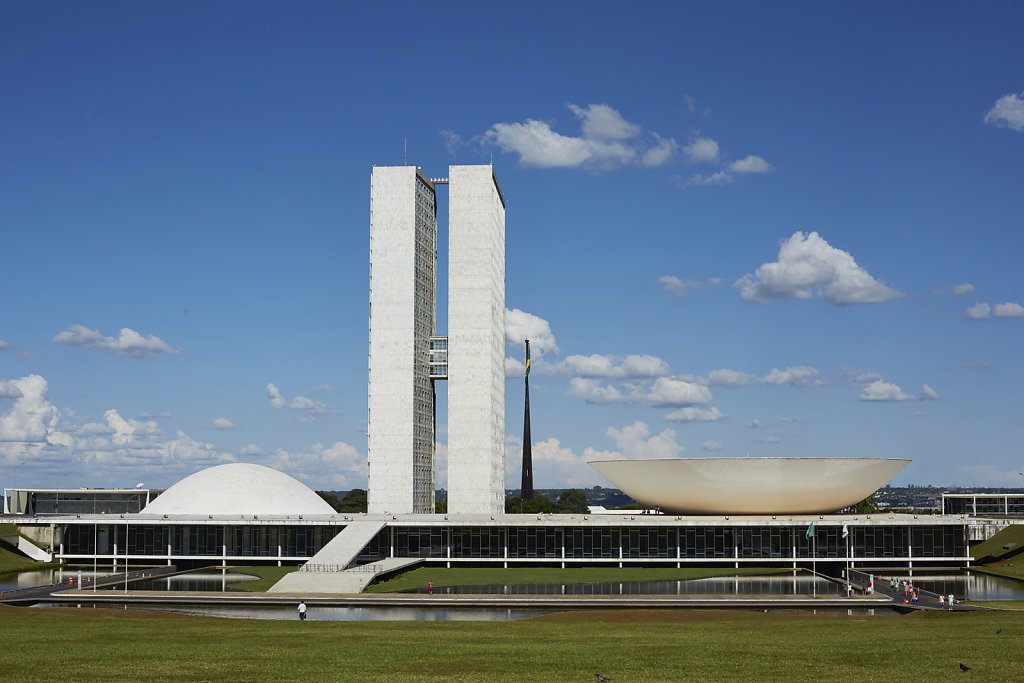 The National Congress of Brazil, Brasilia - Arch: Oscar Niemeyer