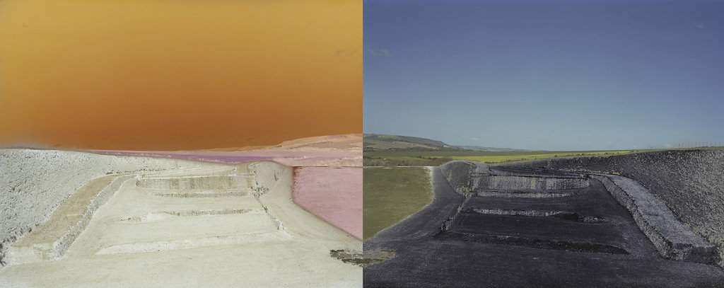 Field of Vision II - Tarring Neville Chalk Quarry, Sussex, C-Type Hand Printed 40 x 31in / 102 x 79 cm (Edition of 30) Tarring Neville Chalk Quarry, Sussex, C-Type Hand Printed Dyptique 80 x 31in / 202 x 79 cm (Edition of 20)